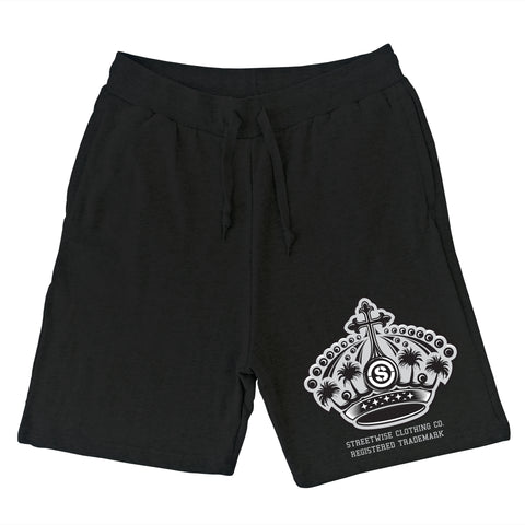 The Crown 2.0 Sweat Shorts (Black)