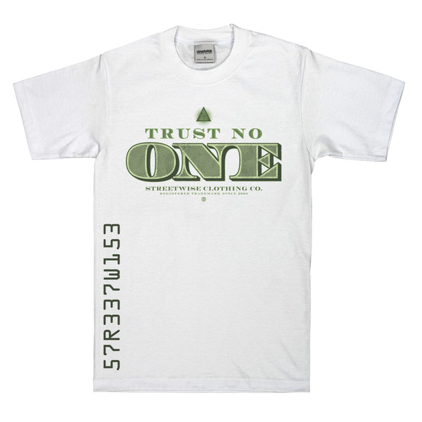 Tru$t No One T-Shirt (White)