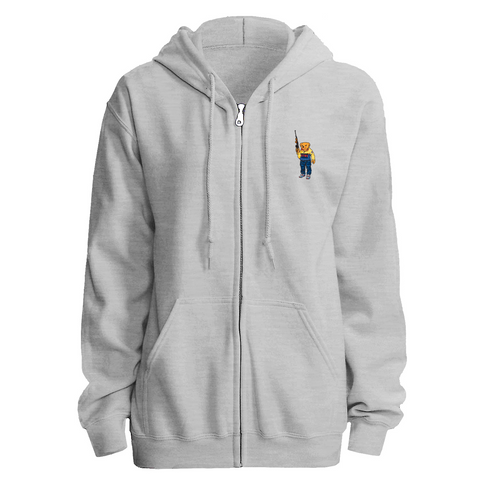 Bear Arms Zip Hoody (Grey)
