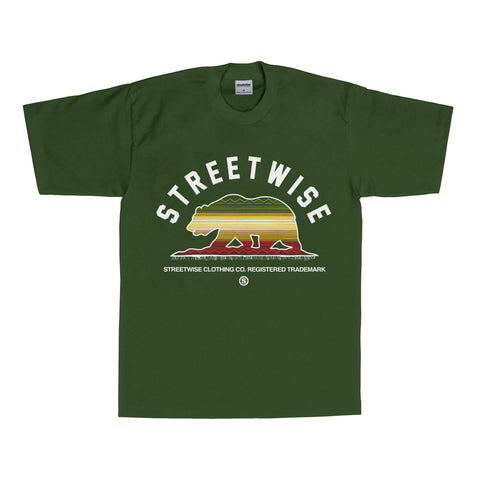 Zarape Bear T-Shirt (Hunter Green)