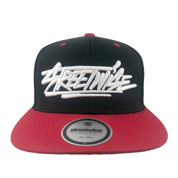 All Caps Snapback (Black/Red)