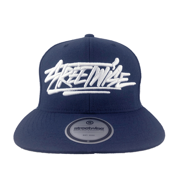 All Caps Snapback (Navy)