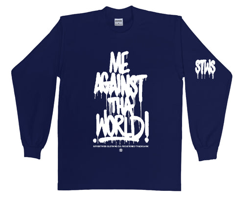 Against The World Long Sleeve (Navy)