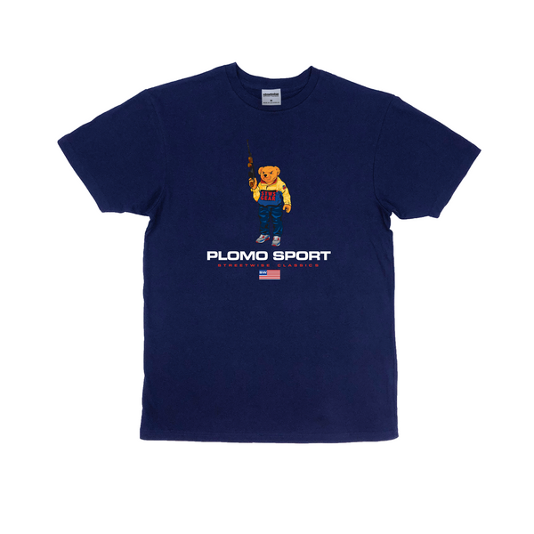 Bear Arms Premium Cotton T-Shirt (Navy)