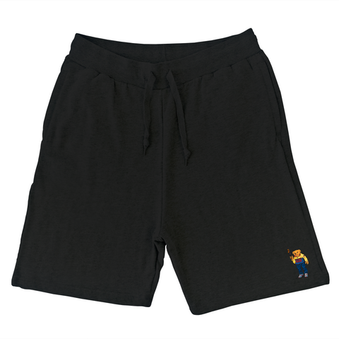 Bear Arms Sweat Shorts (Black)