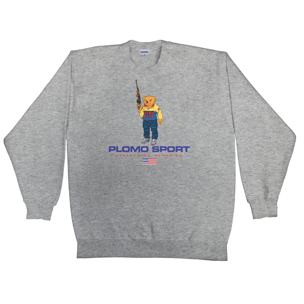 Bear Arms Crew Neck (Grey)