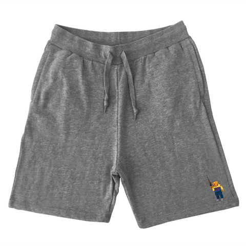 Bear Arms Sweat Shorts (Gray)
