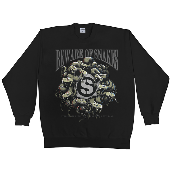 Beware Crewneck Sweater (Black) | Fall 2016 | Streetwise Clothing