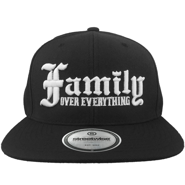 Family Over Everything Snapback (Black)