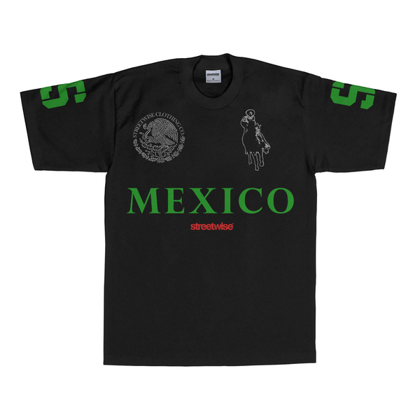 Narco Polo T-Shirt (Black w/ Green)