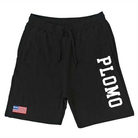 Block Letters Sweat Shorts (Black)