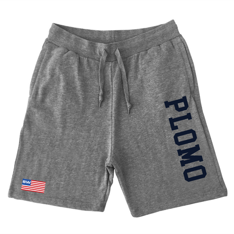 Block Letters Sweat Shorts (Gray)
