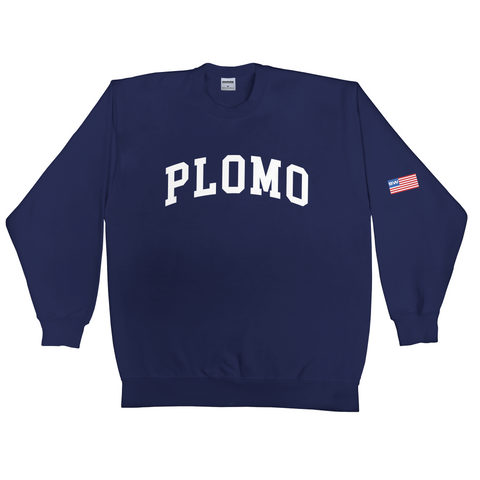 Block Letters Crew Neck (Navy)