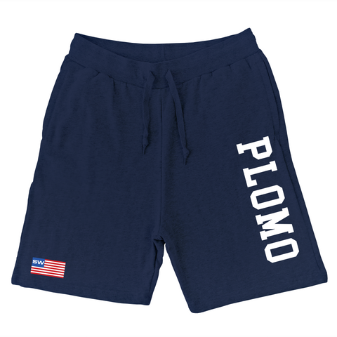 Block Letters Sweat Shorts (Navy)