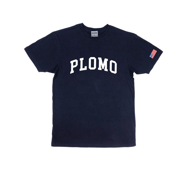 Block Letters Premium Cotton T-Shirt (Navy)