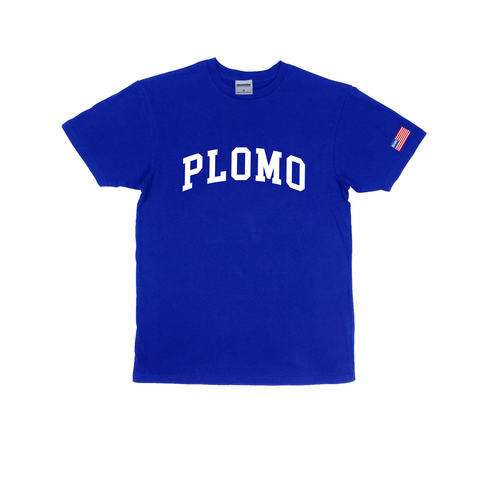 Block Letters Premium Cotton T-Shirt (Royal)