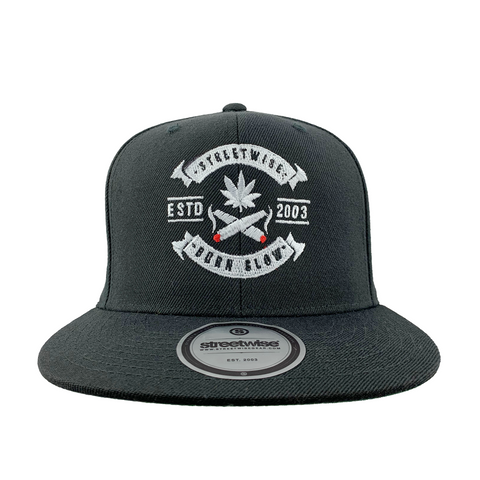 Burn Slow Snapback (Black)