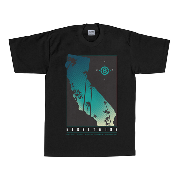 Cali Palms T-Shirt (Black) | Spring 2016 | Streetwise Clothing