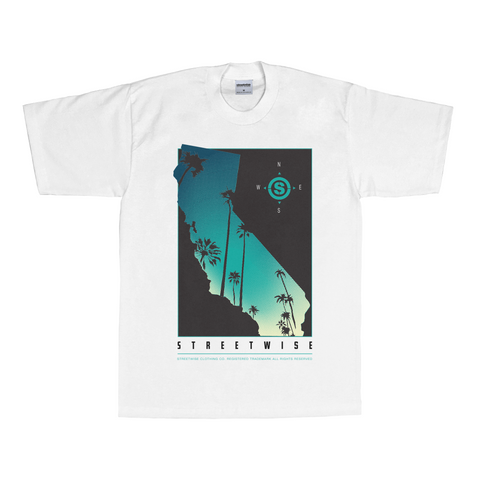 Cali Palms T-Shirt (White) | Spring 2016 | Streetwise Clothing