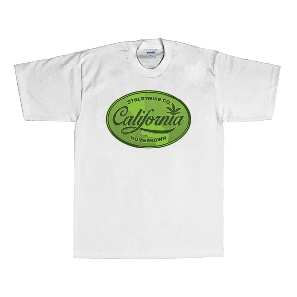 Cali Green T-Shirt (White)