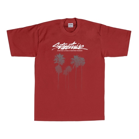 Cali Trees T-Shirt (Burgundy)