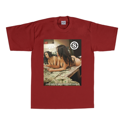 Cash Out T-Shirt (Burgundy)