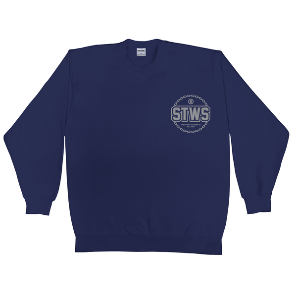 Chain Gang Crew neck (Navy)