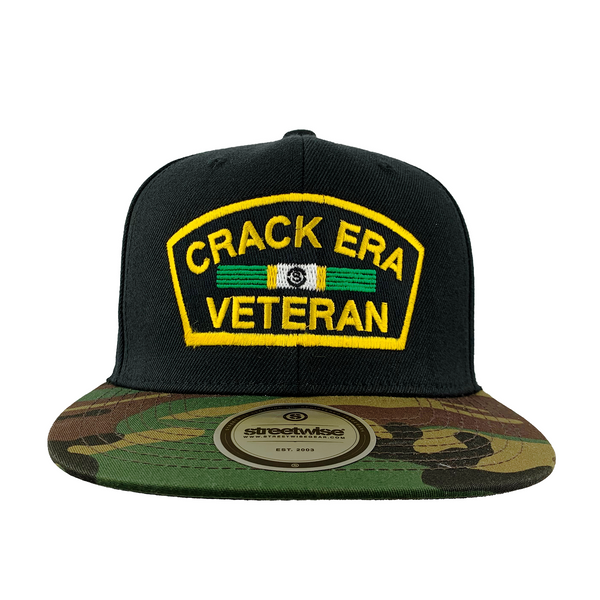 Crack Era Snapback (Black/Camo)