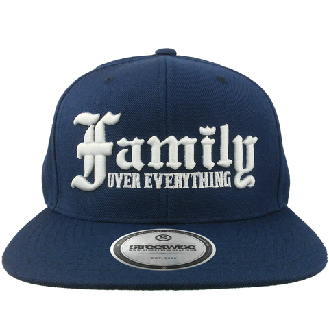 Family Over Everything Snapback (Navy)