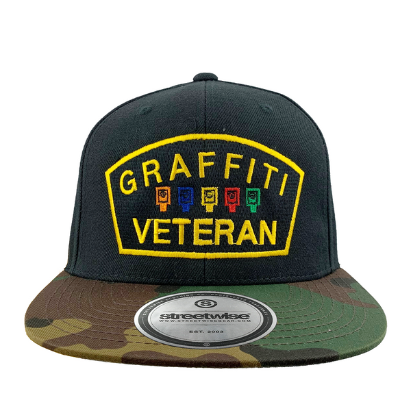 Graffiti Veteran Snapback (Black/Camo)