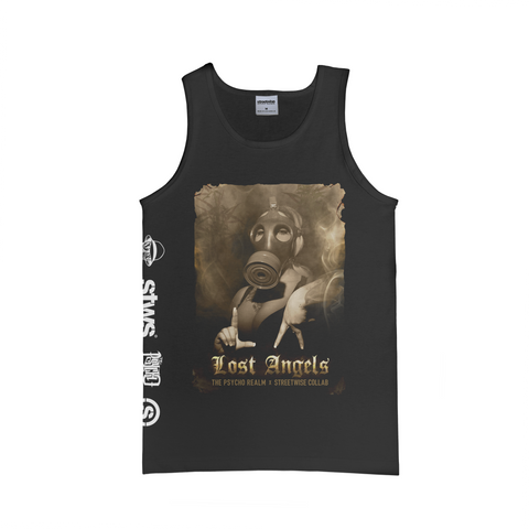 Lost Angels Tank (Black) | Psycho Realm Collab | Streetwise Clothing