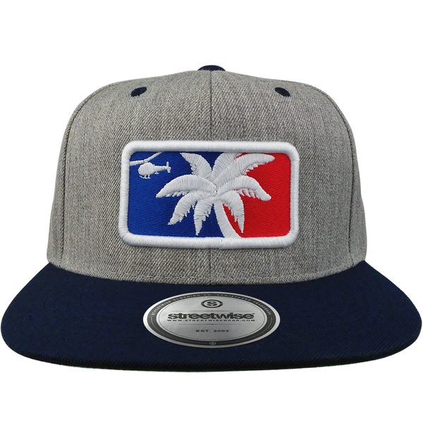 Major League Snapback (Gray/Navy)