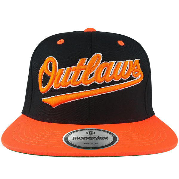 Outlaws Snapback (Black/Orange)