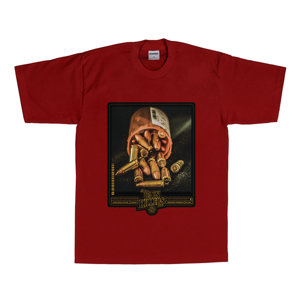 Pain Killers T-Shirt (Burgundy)