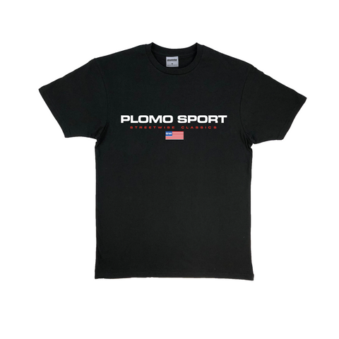 Plomo Sport Premium Cotton T-Shirt (Black)