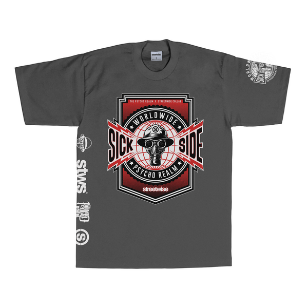 Propaganda T-Shirt (Charcoal) | Psycho Realm Collab | Streetwise Clothing