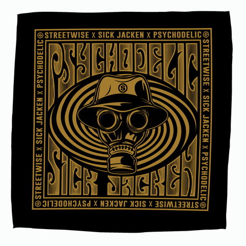 Psychodelic Bandana (Black) | Psycho Realm Collab | Streetwise Clothing