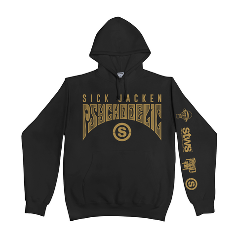Psychodelic Hoodie (Black) | Psycho Realm Collab | Streetwise Clothing