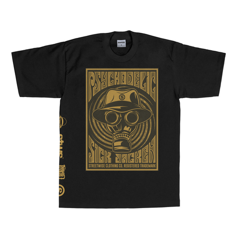 Psychodelic T-Shirt (Black) | Psycho Realm Collab | Streetwise Clothing