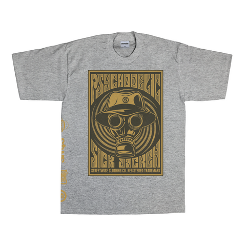 Psychodelic T-Shirt (Gray) | Psycho Realm Collab | Streetwise Clothing