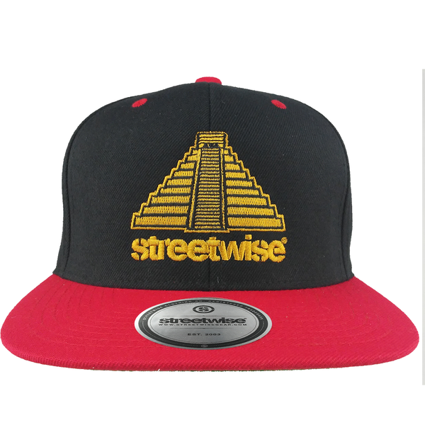 Pyramid Snapback (Black/Red)