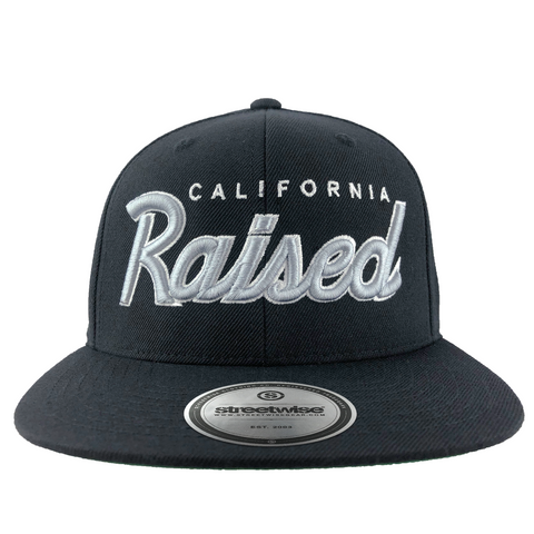 Cali Raised Snapback (Black)