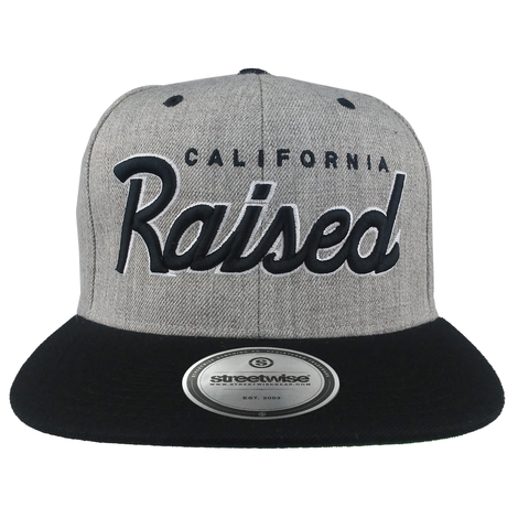 Cali Raised Snapback (Gray/Black)