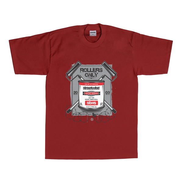 Rollers T-Shirt (Burgundy)
