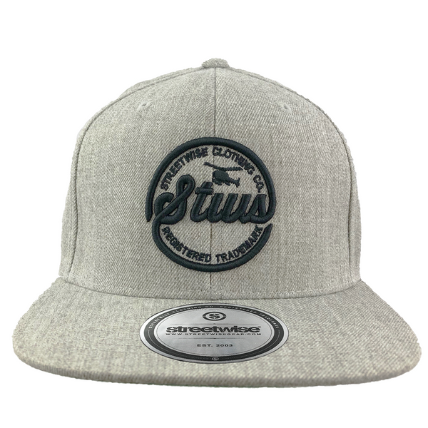 Runnin' Circles Snapback (Gray)