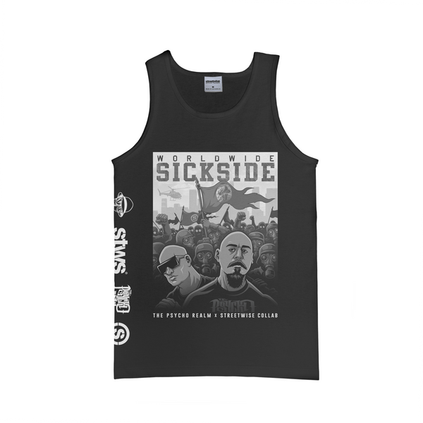 SS Army Tank (Black) | Psycho Realm Collab | Streetwise Clothing