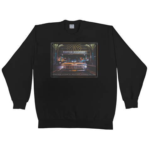 Whittier Blvd Crewneck Sweater (Black)