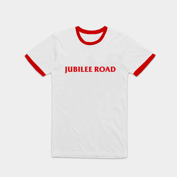 JUBILEE ROAD RED RINGER WHITE T-SHIRT