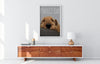 Amazing pop art of airedale terrier in a white living room