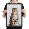 Personalized cat pop art poster from a photo in black frame